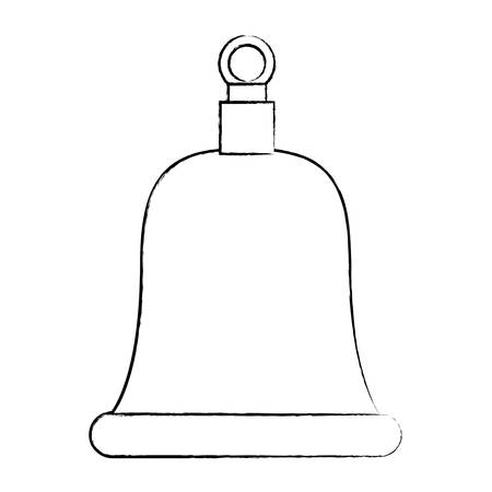 A sketch of bell icon over white background, vector illustration