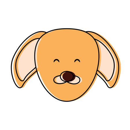 A cute dog face icon over white background, colorful design vector illustration Stock Illustratie