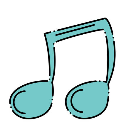 Musical note icon Illustration