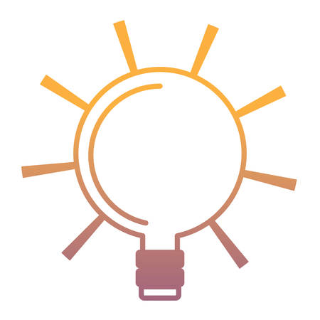 Bright bulb icon over white background, colorful design. vector illustration