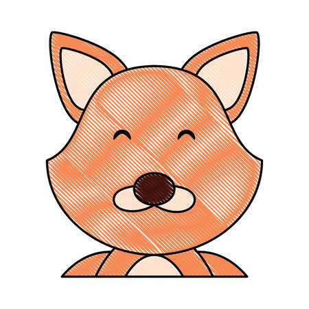 cute fox  animal icon over white background, colorful design. vector illustration