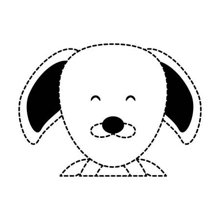 cute dog icon over white background, vector ilustration