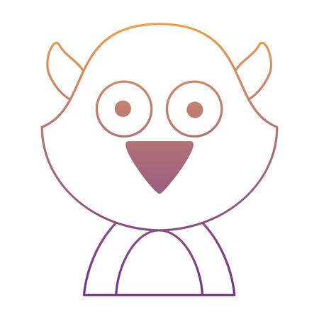 cute animal icon over white background, colorful design.  vector illustration Vettoriali