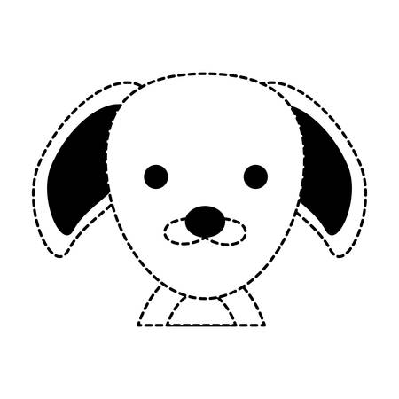 cute puppy icon over white background, vector ilustration Illustration