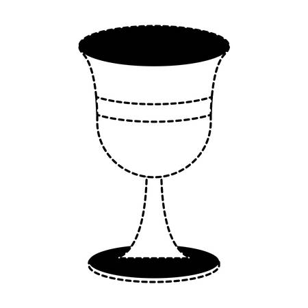 Holy grail icon over white background, vector illutration
