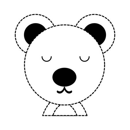 cute bear animal icon over white background, vector illustration Illustration