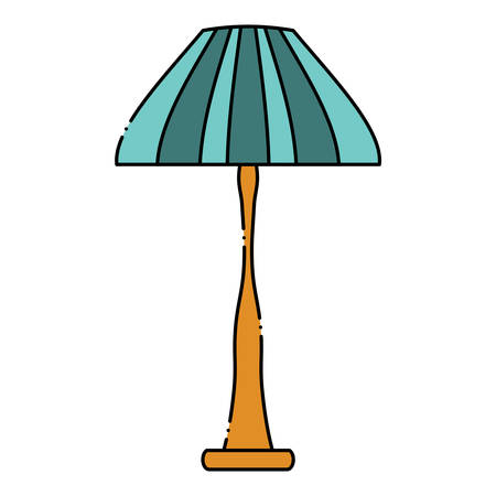 House lamp icon over white background, colorful design. vector illustration Illustration