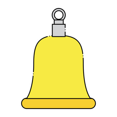 bell icon over white background, colorful design. vector illustration