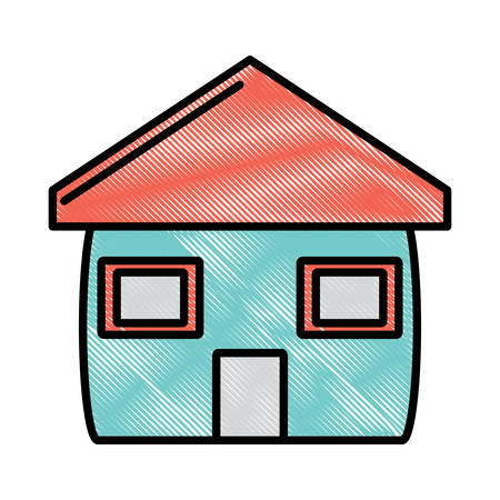 house icon over white background, colorful design. vector illustration