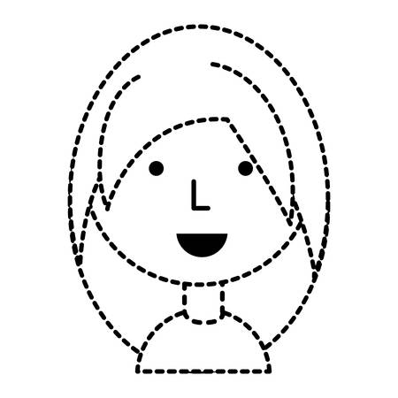 Cartoon girl icon over white background vector illustration Vectores