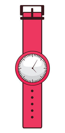 watch icon over white background, colorful design. vector illustration Illustration