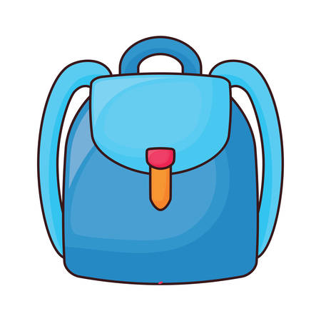 school backpack icon over white background, colorful design.  vector illustration