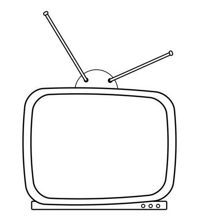 retro vintage icon over white background, vector illustration Vettoriali