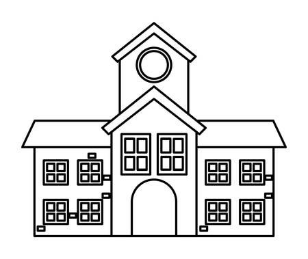school building icon over white background, vector illustration Vektorové ilustrace