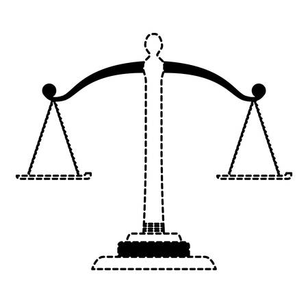 law scale icon over white background, vector illustration