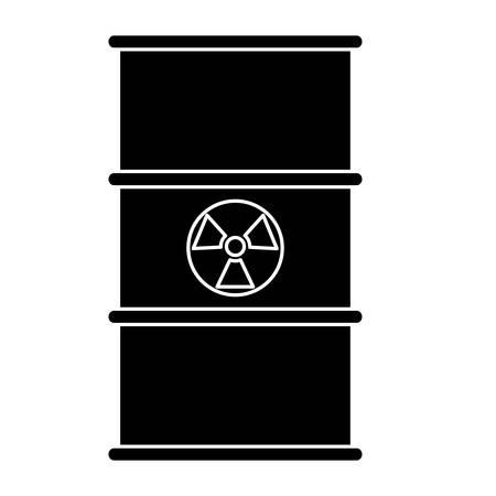 nuclear barrel icon over white background, vector illustration Illustration