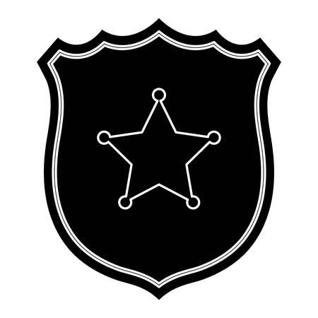 Sheriff shield icon over white background, vector illustration