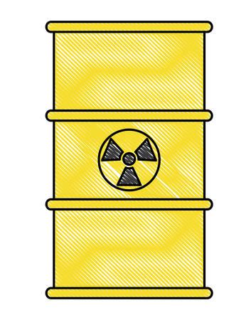 nuclear barrel icon over white background, colorful design. vector illustration Illustration