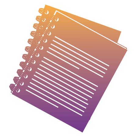 Note book icon over white background, colorful design. vector illustration