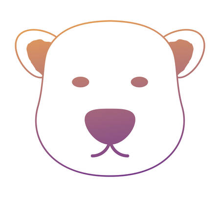 polar bear face icon over white background, colorful design. vector illustration Illustration