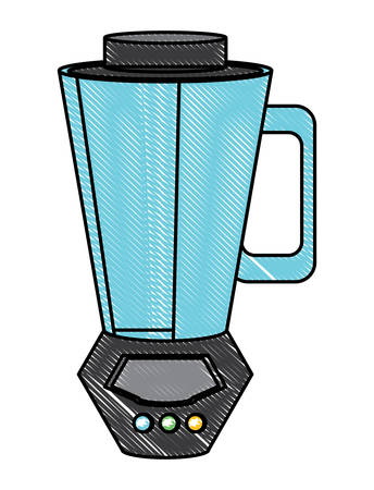 blender icon over white background, colorful design. vector illustration