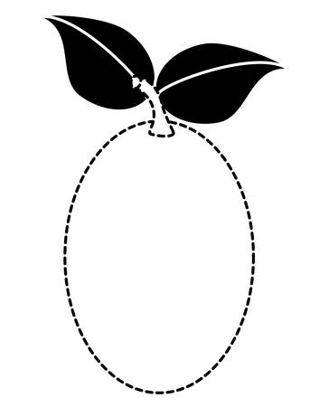 Tree tomato fruit with two leaves over a white background