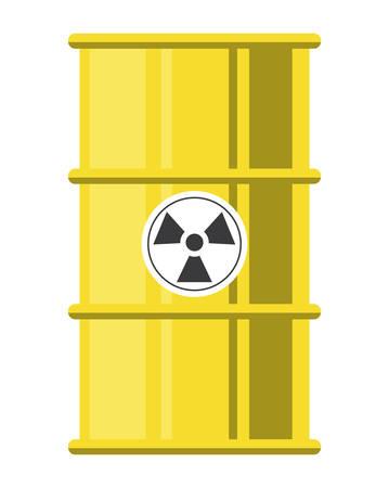 nuclear barrel icon over white background, colorful design. vector illustration Stock Illustratie