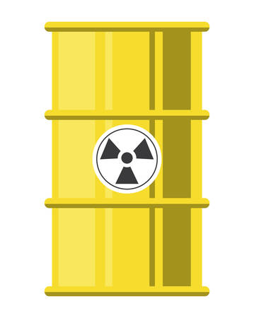 nuclear barrel icon over white background, colorful design. vector illustration Ilustração