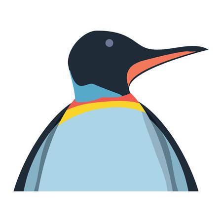 Cute penguin icon over white background, colorful design. vector illustration