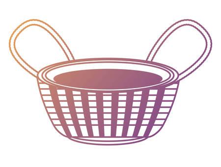 empty fruit basket icon over white background, colorful design. vector illustration