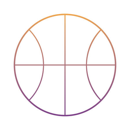 basketball ball icon over white background, colorful design. vector illustration