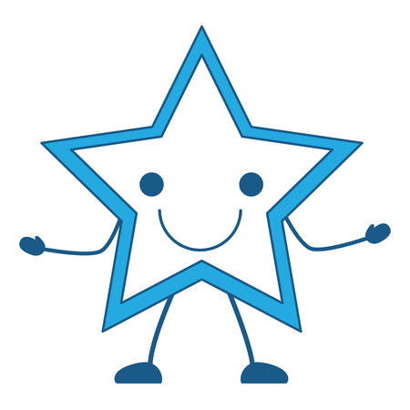 excited star icon over white background, vector illustration