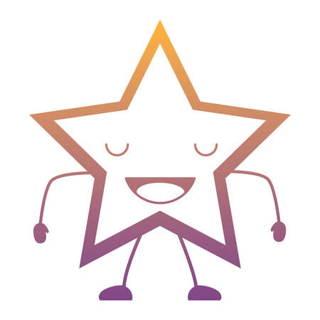 happy star icon over white background, colorful design. vector illustration