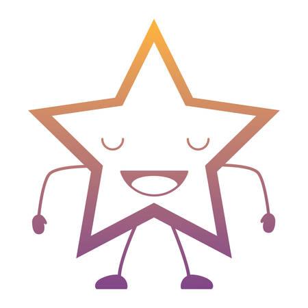 happy star icon over white background, colorful design. vector illustration