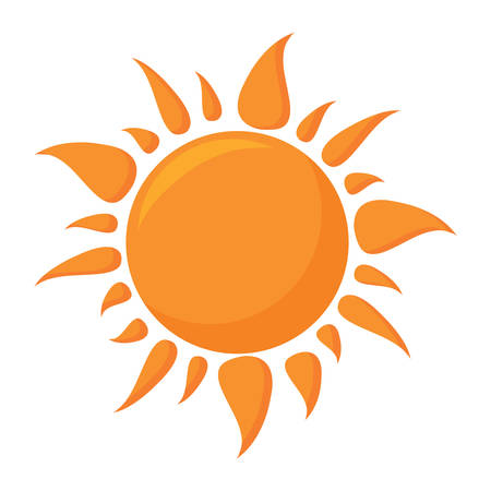 sun shape icon over white background, colorful design. vector illustration Illustration