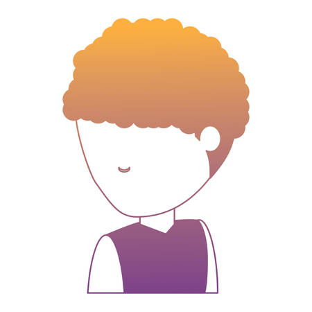 avatar man with afro hairstyle icon over white background, colorful design. vector illustration