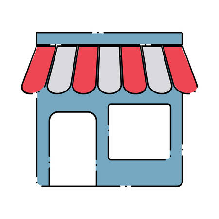 store icon over white background, colorful design. vector illustration