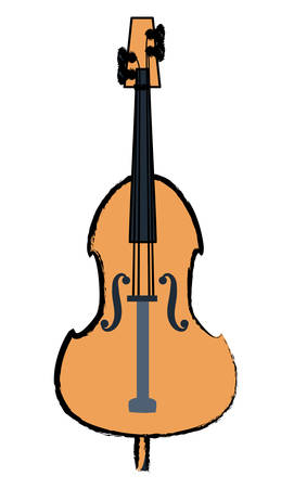 cello instrument icon over white background, colorful design. vector illustration