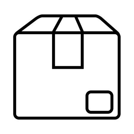 carton box icon over white background, vector illustration Illusztráció