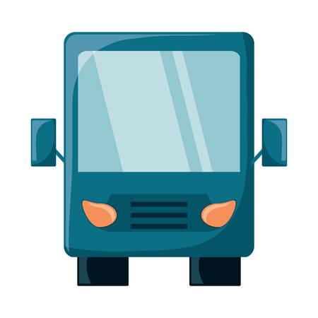 bus icon over white background, colorful design. vector illustration