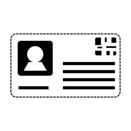 id card icon over white background, vector illustration