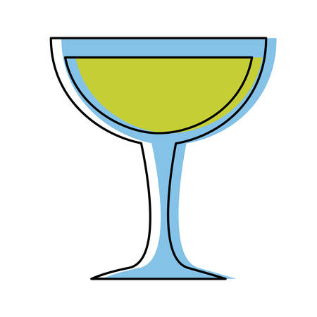 cocktail glass icon over white background, colorful design. vector illlustration Illustration