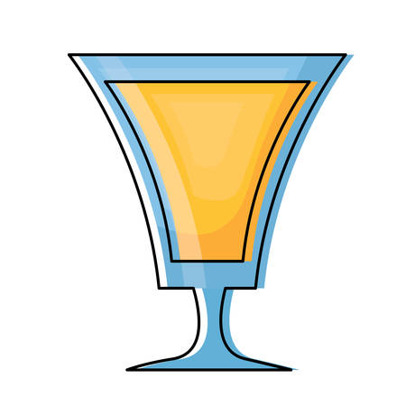 Cocktail drink icon over white background, colorful design. vector illustration.