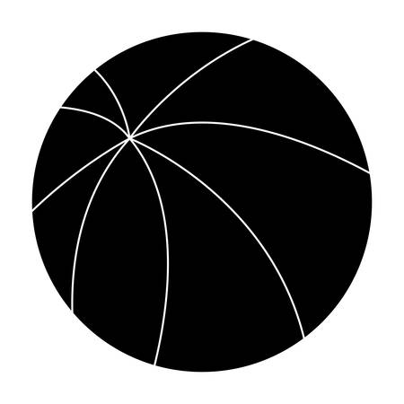 summer ball icon over white background, vector illustration