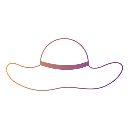 beach hat icon over white background, colorful design. vector illustration