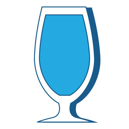 cocktail glass icon over white background, blue shding design. vector illlustration Illusztráció