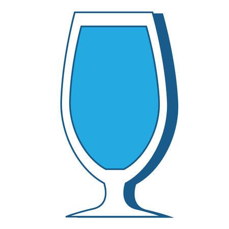 cocktail glass icon over white background, blue shding design. vector illlustration Illustration