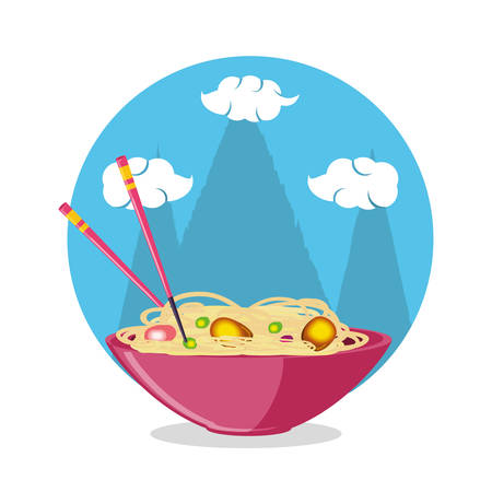 delicious chinese rice icon vector illustration design