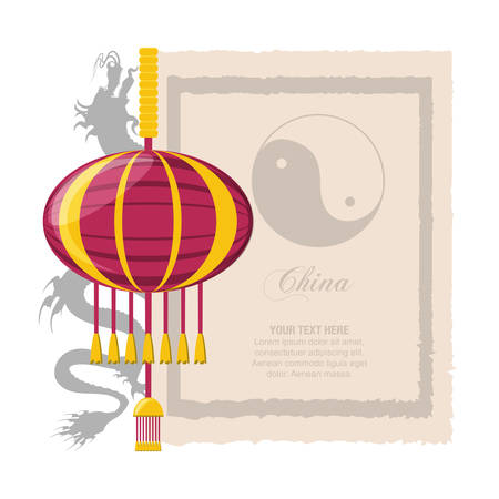 chinese lamps hanging icons vector illustration design Illustration