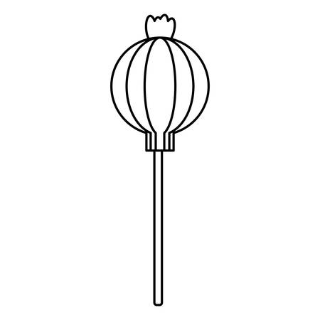 Lollipop candy icon over a white background